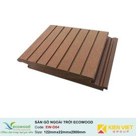Sàn gỗ ngoài trời EcoWood EW-D04 | 122x22mm
