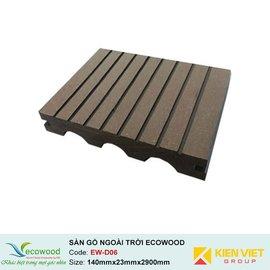 Sàn gỗ ngoài trời hình cầu đặc EcoWood EW-D06 | 140x23mm