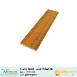Thanh đa năng Ecowood WPO-503 | 50x3mm