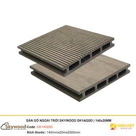 Sàn gỗ nhựa ngoài trời Skywood DK14020D | 140x20mm