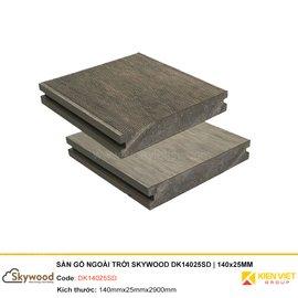 Sàn gỗ nhựa ngoài trời Skywood DK14025SD | 140x25mm