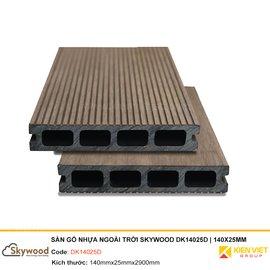 Sàn gỗ nhựa ngoài trời Skywood DK14025D | 140x25mm