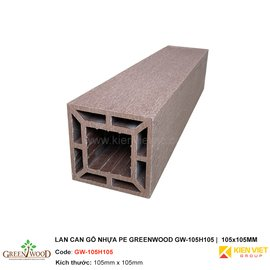 Lan can gỗ nhựa PE Greenwood GW-105H105 | 105x105mm