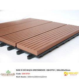 Sàn vỉ gỗ nhựa GreenWood GW-DT01 | 300x300x22mm