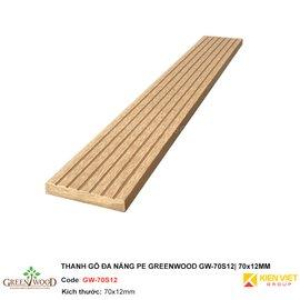 Thanh gỗ đa năng PE Greenwood GW-70S12 | 70x12mm
