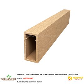 Thanh lam gỗ nhựa PE Greenwood GW-90H45 | 90x45mm