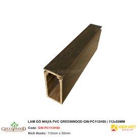Lam gỗ nhựa PVC Greenwood GW-PC112H50 | 112x50mm