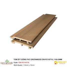 Tấm ốp tường PVC Greenwood GW-PC118T16 | 118x16mm
