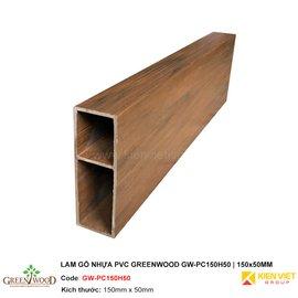 Lam gỗ nhựa PVC Greenwood GW-PC150H50 | 150x50mm