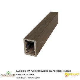 Lam gỗ nhựa PVC Greenwood GW-PC40H28 | 40x28mm
