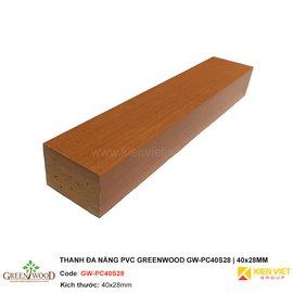 Thanh gỗ đa năng PVC Greenwood GW-PC40S28 | 40x28mm