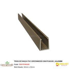 Trần gỗ nhựa PVC Greenwood GW-PC40U50 | 40x50mm
