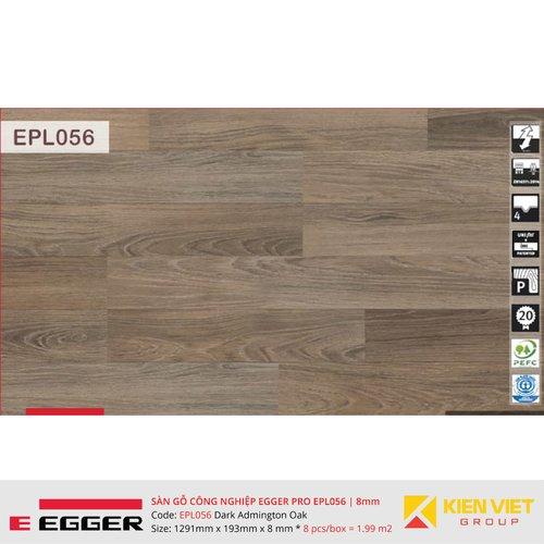 Sàn gỗ Egger Pro EPL056 Dark Admington Oak | 8mm