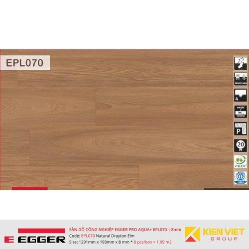 Sàn gỗ Egger Pro Aqua Plus EPL070 Natural Drayton Elm   8mm