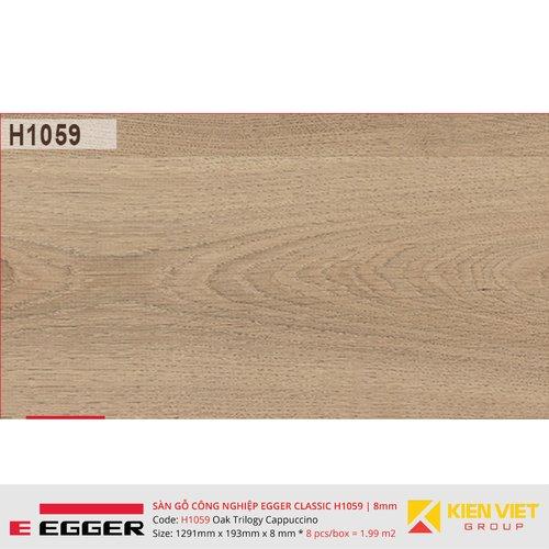 Sàn gỗ Egger Classic H1059 Oak Trilogy Cappuccino   8mm