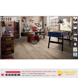 Sàn gỗ Egger Classic H1059 Oak Trilogy Cappuccino | 8mm