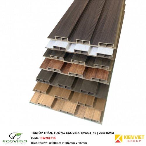 Tấm ốp trần tường Ecovina EW204T16 | 204x16mm