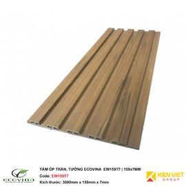 Tấm ốp trần tường Ecovina EW159T7 | 159x7mm
