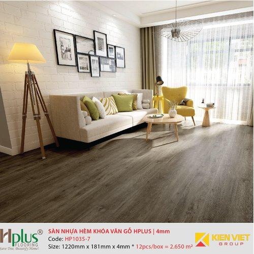 Sàn nhựa hèm khóa vân gỗ HPlus HP1035-7 | 4mm