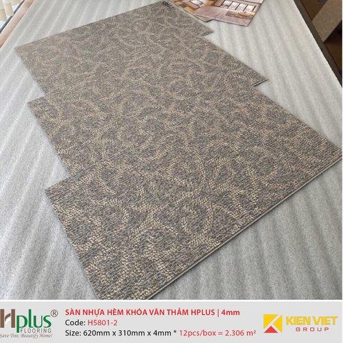 Sàn nhựa hèm khóa vân thảm HPlus HP5801-2 | 4mm