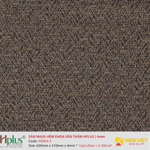 Sàn nhựa hèm khóa vân thảm HPlus HP5803-5 | 4mm