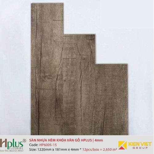 Sàn nhựa hèm khóa vân gỗ HPlus HP6005-15 | 4mm