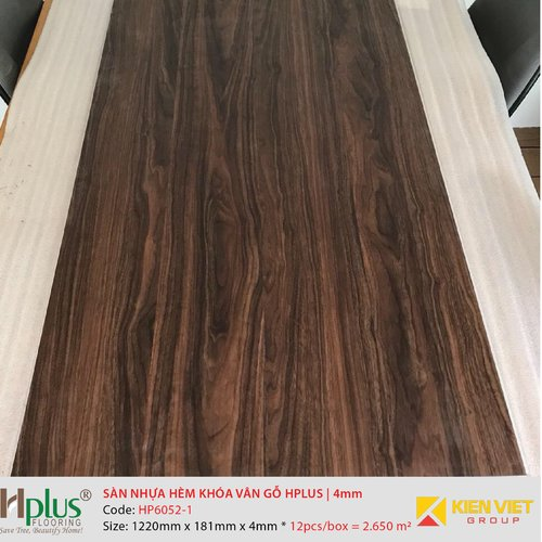 Sàn nhựa hèm khóa vân gỗ HPlus HP6052-1 | 4mm