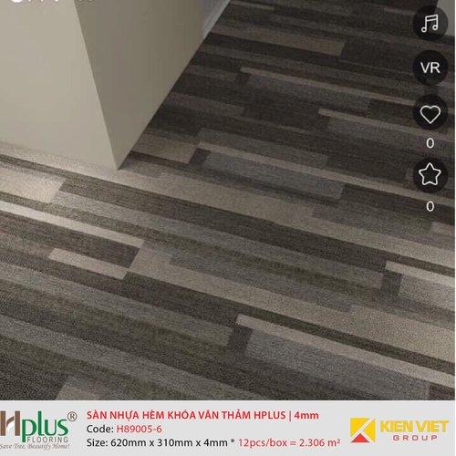 Sàn nhựa hèm khóa vân thảm HPlus HP89005-6 | 4mm