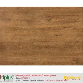 Sàn nhựa hèm khóa vân gỗ HPlus HP6062-3 | 4mm