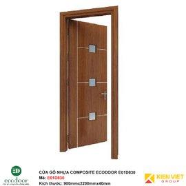 Cửa gỗ nhựa thông phòng Ecodoor E01D830
