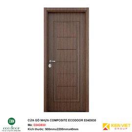 Cửa gỗ nhựa thông phòng Ecodoor E04D830