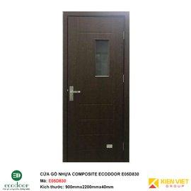 Cửa gỗ nhựa thông phòng Ecodoor E05D830