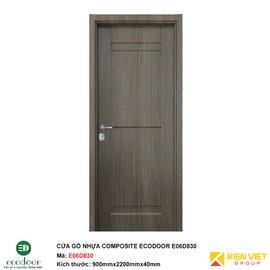 Cửa gỗ nhựa thông phòng Ecodoor E06D830
