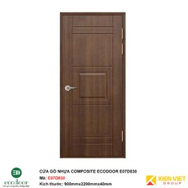 Cửa gỗ nhựa thông phòng Ecodoor E07D830