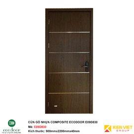 Cửa gỗ nhựa thông phòng Ecodoor E09D830