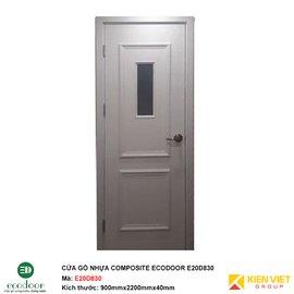 Cửa gỗ nhựa thông phòng Ecodoor E20D830