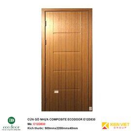 Cửa gỗ nhựa thông phòng Ecodoor E12D830