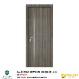 Cửa gỗ nhựa thông phòng Ecodoor E14D830