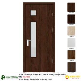Cửa gỗ nhựa Việt Pháp có ô kính K4-F010