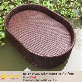 Khay nổi bể bơi hình ovan KN04 | 70x100x15cm