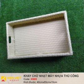 Khay nổi bể bơi hình chữ nhật KN05 | 40x65x15cm
