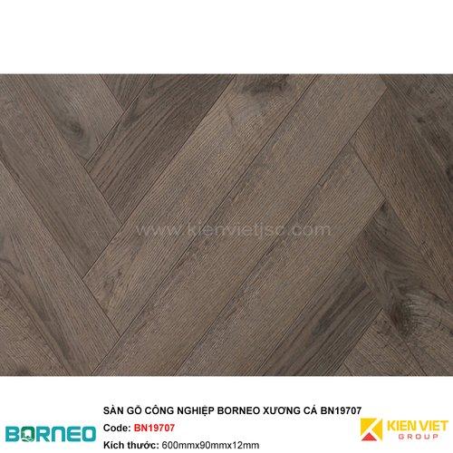 Sàn gỗ công nghiệp Borneo xương cá BN19707 | 12mm