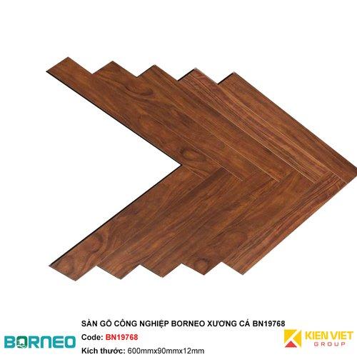 Sàn gỗ công nghiệp Borneo xương cá BN19768   12mm