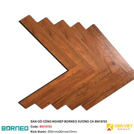 Sàn gỗ công nghiệp Borneo xương cá BN19703 | 12mm