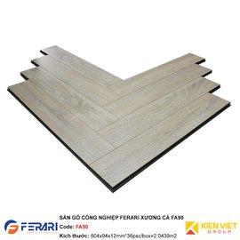 Sàn gỗ công nghiệp Ferari xương cá FA90 | 12mm