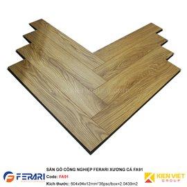 Sàn gỗ công nghiệp Ferari xương cá FA91 | 12mm
