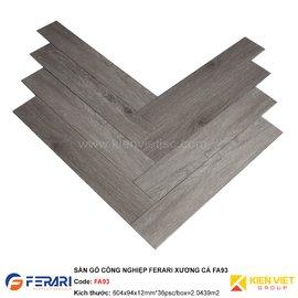 Sàn gỗ công nghiệp Ferari xương cá FA93 | 12mm