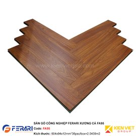Sàn gỗ công nghiệp Ferari xương cá FA95 | 12mm