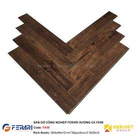 Sàn gỗ công nghiệp Ferari xương cá FA98 | 12mm