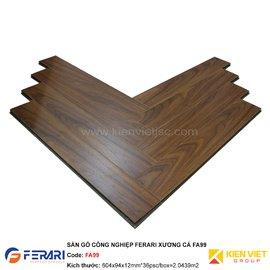 Sàn gỗ công nghiệp Ferari xương cá FA99 | 12mm